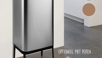 60% Korting Designer Afvalscheidingsprullenbak met Sensor 60L of 75L voor vanaf €79,99 bij Koopjedeal