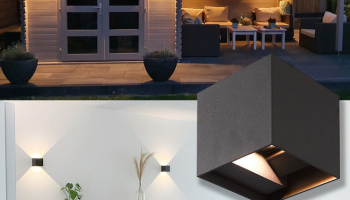 60% Korting LED Wandlamp Kansas IP65 3000K tweezijdig oplichtend voor €19,95 bij 6Deals