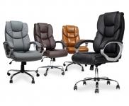 37% Korting Design Bureaustoelen van Top Grain Runderleder