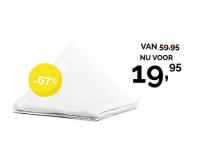 67% korting katoenen dekbed voor €19,95 bij Dekbed Discounter