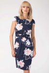 68% Korting Navy Floral Tulip Tie Back Dress voor €25,60 bij Closet London