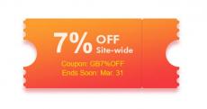 7% Extra Kortingscode voor de hele site bij GearBest