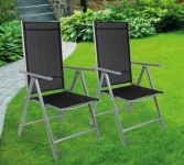 72% Korting Set van 2 Luxe Aluminium Tuinstoelen voor €69,99 bij Koopjedeal