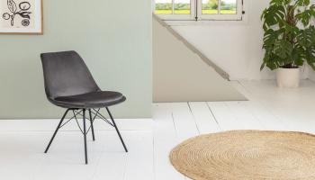 74% Korting Set van 2 Lifa-Living fluwelen stoelen voor €99,95 bij Actievandedag