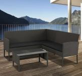 75% Korting Intimo Garden Lounge Hoekbank Russi met geharde glazen salontafel voor €249 bij Koopjedeal