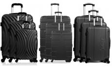 80% korting 3-delige koffersets ABS-Black-collectie voor €89,99 bij Groupon