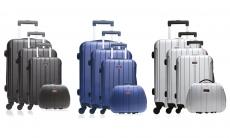 81% korting 4 delig kofferset ABS Hero (3 rollkofers + 1 vanity case) voor €94,99 bij Groupon