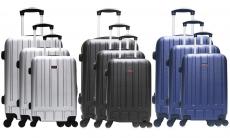 85% korting Beauty-case en 3 koffers ABS Hero voor €99,99 bij Groupon