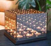 86% Korting Spiegelglas Waxinelichthouder met Oneindig Effect voor vanaf €12,99 bij Koopjedeal