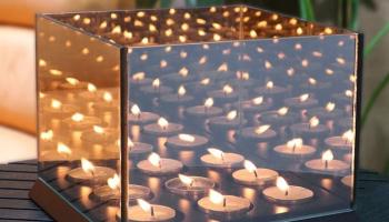 78% Korting Spiegelglas Waxinelichthouder met Oneindig Effect voor vanaf €12,99 bij Koopjedeal