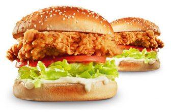 1 + 1 Gratis Zinger Burger bij KFC