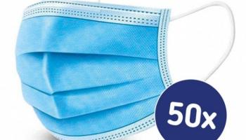 91% Korting 3-Laags Mondkapjes set van 50 stuks voor €7,01 bij Amazon.de