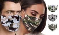 46% Korting Camouflage Katoenen Herbruikbare Mondkapjes voor €1,90 bij Groupon