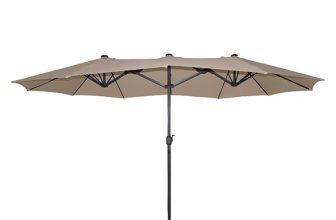 25% Korting Marbella Dubbele Parasol van 4,5 meter voor €179,99 bij Groupdeal