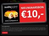 €10 Korting met Nieuwjaarsbon bij SushiPoint