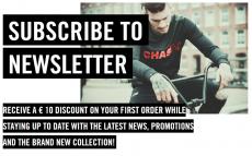 €10 Kortingscode aanmelden nieuwsbrief bij Chasin'