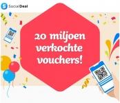 €2,50 Extra korting met kortingscode viering 20M verkochte vouchers bij Social Deal