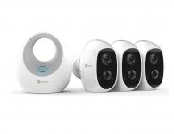 45% Korting Ezviz C3A IP Camera met Base Station 3 Pack voor €299,95 bij iBOOD
