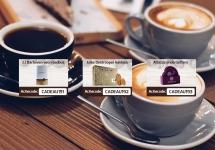 Gratis Cadeau voorraadbus, JD koekjes of onderzetters bij Koffievoordeel