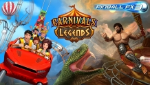 Gratis Pinball FX3 Carnivals & Legends Tables DLC voor PS4, Xbox One, Switch en PC (Steam) bij Zen Studios