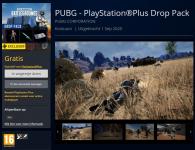 Gratis PUBG Drop Pack voor PS Plus bij PS Store