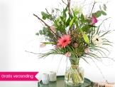 Gratis verzending t.w.v. €4,95 en een kaart op bloemen bij Hallmark