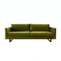 4×6 Sofa X1 Velours 3-zitsbank – Groen