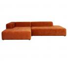4×6 Sofa X6 Velours Hoekbank Links – Roest (Bruin)