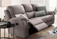 Atlantic Home Collection 3-zitsbank met Relax Functie en Binnenvering – Grijs / Lichtgrijs