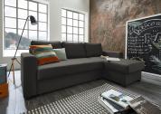 Atlantic Home Collection Hoekbank Dublin met Slaapfunctie – Grijs (Antraciet)