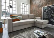 Atlantic Home Collection Hoekbank Dublin met Slaapfunctie – Grijs (Light Graniet)
