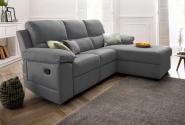Atlantic Home Collection Hoekbank met Relax Functie en Binnenvering – Grijs / Donkergrijs