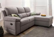 Atlantic Home Collection Hoekbank met Relax Functie en Binnenvering – Grijs / Lichtgrijs