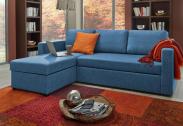 Atlantic Home Collection Hoekbank met Slaapfunctie – Blauw