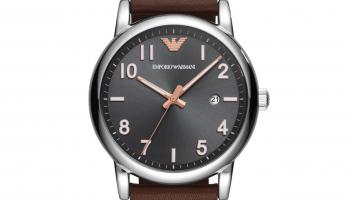 75% Korting Emporio Armani Heren analoog kwartshorloge met lederen armband AR1175 voor €51,11 bij Amazon NL