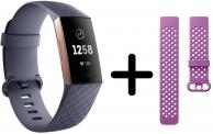€44 Korting Fitbit Charge 3 Activity tracker Blauw grijs + Roze bandje voor €115 bij Bol.com