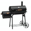 LANDMANN GRILLCHEF Grill & Smoker Tennessee 200 Houtskoolbarbecue met Thermometer – Zwart