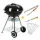 MaxxGarden Houtskoolbarbecue Kogelbarbecue 45 cm met Extra Accessoires – Zwart