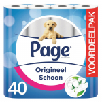 45% korting op Page toiletpapier – 40 rollen voor €9,99 met Zondagdeal bij Bol.com