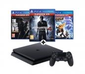 €80 Korting PS4 Slim 1 TB Met Uncharted 4, The lastof us en Ratchet & Clank voor €269 bij MediaMarkt