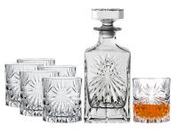 73% Korting RCR Oasis Karaf & 6 Whiskeyglazen bij iBOOD