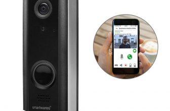81% Korting Smartwares Video Deurbel met Wifi DIC-23216 bij iBOOD