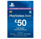 50% korting Sony PlayStation €50 Tegoedkaart (DE) bij iBOOD