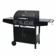 Vaggan Gasbarbecue met 4 Branders – Zwart