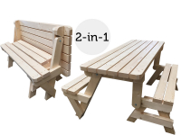 36% Korting Woodkit Inklapbare Picknicktafel / Bank bij iBOOD