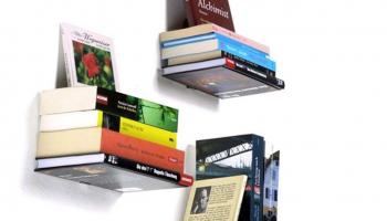 50% Korting Set van 2 Zwevende Boekenplanken voor €14,99 bij Koopjedeal