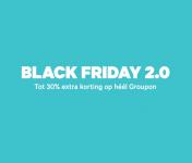 Tot 30% Extra korting met kortingscode op Lokaal, Reizen en Producten met Black Friday 2.0 bij Groupon