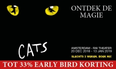 Tot 33% korting CATS de internationale hitmusical bij Groupon