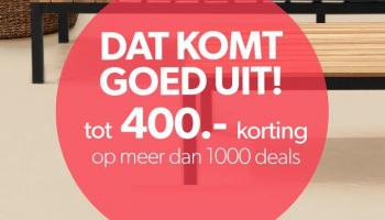 Tot €400 Korting met Vakantiegeld Sale bij Wehkamp