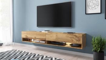 Tot 58% Korting Hangend Wander TV Meubel met optioneel LED lampen voor vanaf €74,59 bij Groupon